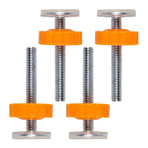 COSORO M10 Pressure Baby Gates Threaded Spindle Rods Walk Thru Gates Accessory Screw Bolts (4pcs Spindle Rods)