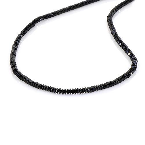 Collana con perline e pietre preziose multicolore, per donne e ragazze, stile stravagante, realizzata a mano, per la spiaggia, in argento Sterling 925, Pietra, Spinello nero (a forma di disco),