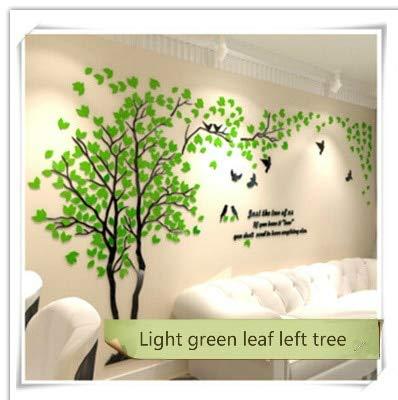 Pegatina de pared 3D árbol acrílico espejo DIY arte TV fondo Póster dormitorio salón decoración casa S 1 x 2 m como foto