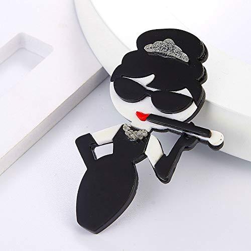 Feiyi Moda Donna Con Portasigarette Acrilico Spille E Spille Distintivi Grande Resina Carino Signora Tabacco Tubo Sciarpa Fibbia Ragazze Regali