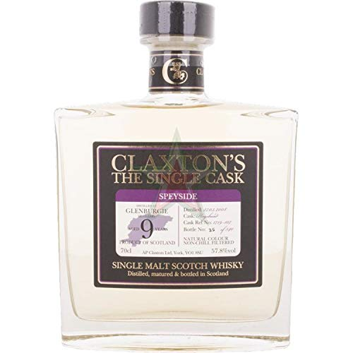 Claxton's The Single Cask GLENBURGIE 9 Years Old 57,80% 0,70 Liter