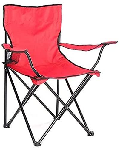 GREATS Silla Camping 50X50X80cm, Silla de Acampada Plegable Silla Jardin (1 Unidad, Rojo)