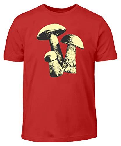 Pilze, Fungi, Essen, Lebewesen, Eukaryotisch, Pflanzen, Mykologie, Mann, Männer, Jungen - Kinder T-Shirt -7/8 (122/128)-Rot