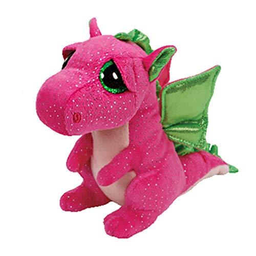 15cm Ty Beanie Boos Knuffel Schattige roze dinosaurus Darla Kids Toy Verjaardagscadeau