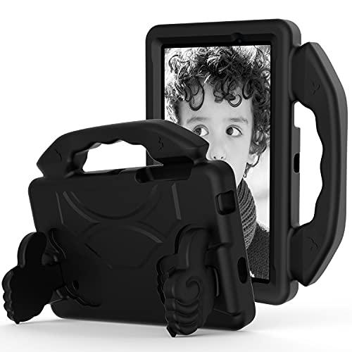 Funda para tablet Samsung Galaxy TAB A 7.0 '' T280/T285 Tablet Case para niños a prueba de golpes, ligera, EVA a prueba de golpes, resistente al impacto, funda protectora con mango (color: negro)
