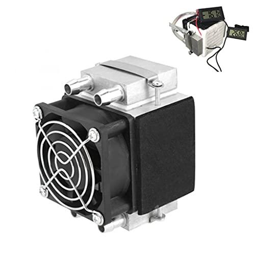 LEZAIMEI Radiador de enfriador, refrigerador termoeléctrico Peltier DC 12 V semiconductor enfriador de máquina de refrigeración de aire DIY radiador módulo + ventilador
