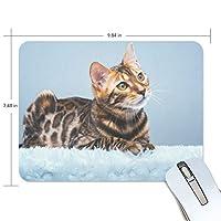 Jiemeil マウスパッド 高級感 おしゃれ 滑り止め PC かっこいい かわいい プレゼント ラップトップ などに 猫の日 萌え かわいい 面白い アニメ 漫画 ネコ 猫柄