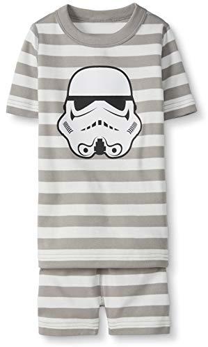 Hanna Andersson Star Wars Kids Organic 2-Piece Short-Sleeve Pajama Set Storm Trooper-150