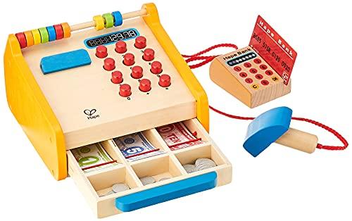 Hape Registrierkasse von Hape  37-teiliges Kassen-Set aus Holz für Kinder mit Taschenrechner-Funktion