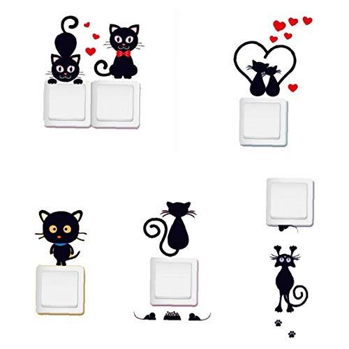 Interruptor de Etiqueta de la Pared Luz de Pared Pegatinas Decoración de Dibujos Animados Animales Wall Decal Arte decoración del hogar Productos para el Hogar