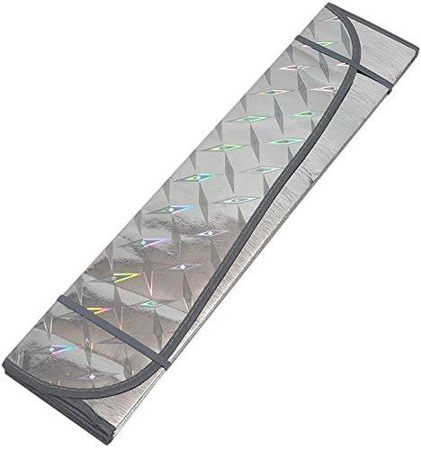 Sombrilla de parabrisas solar, sombra de la ventana delantera del coche general, protector de visera solar anti-UV,130 * 60 cm