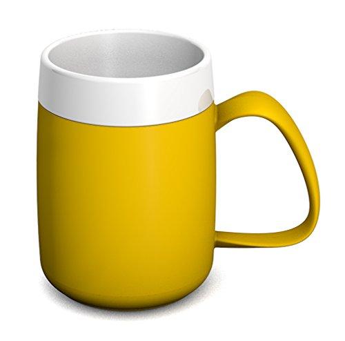 Ornamin Thermobecher 260 ml gelb (Modell 206) / Isolierbecher, doppelwandiger Kaffeebecher Kunststoff