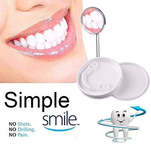 30 Stück Prothese Kosmetik Ober- und Unterseite Kosmetische Zahnverblendung für unregelmäßig gefärbte fehlende und rissige Zähne Keine Schmerzen, kein Bohren, kosmetische Zähne