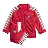 adidas Baby-Jungen I Shiny Ts Trainingsanzug, Rosa/weiß, 80
