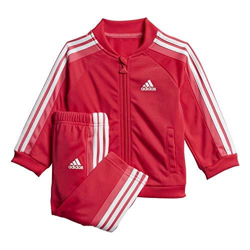 adidas Unisex Kinder I Shiny Ts Trainingsanzug, Rosa/weiß, 92