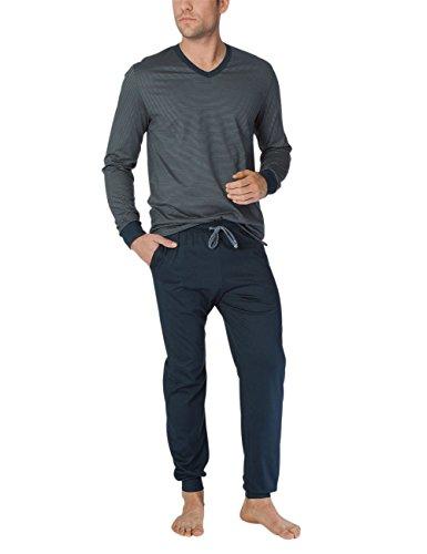 Calida Herren Ryan Pyjama Zweiteiliger Schlafanzug, Mehrfarbig (Steel Grey 967), XX-Large