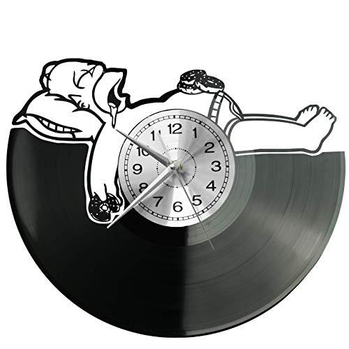 wtnhz Reloj de Pared con Disco de Vinilo LED LED Reloj de Pared 7 Colores Reloj de Pared Luminoso Movimiento de Cuarzo Reloj para decoración del hogar