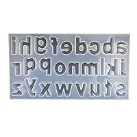 固まるハーバリウム そらプリ クリアリウム シリコンモールド レジン型 アルファベット小文字シート裏 深型 1個 370×240×25mm