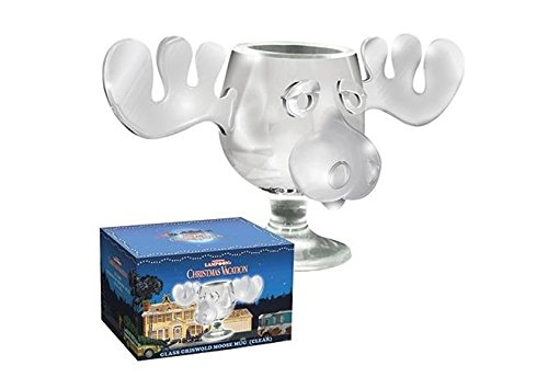 Christmas Vacation 8 oz Clear Glass Moose Mug