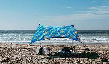 Neso Grande Tente de Plage Tents, 2,1 m (7 pi) de Hauteur, 2,7 m (9 pi) x 2,7 m (9 pi), Coins renforcés et Poche réfrigérée (Color) (Floral Tropical)