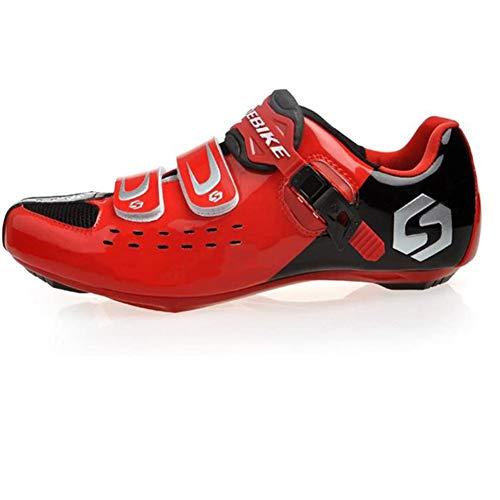 XUJINGJIE Zapatillas De Ciclismo Carretera Transpirables Specialized Zapatillas Ciclismo MTB, Adultos Unisex,D,40(UK6.5)