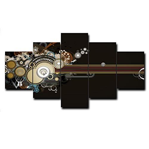 QAZWSY muziek canvas olieverfschilderij poster muur kunstwerk voor keuken woonkamer bruiloft decoratie wooncultuur 30x40 30x60 30x80 CM Geen frame.