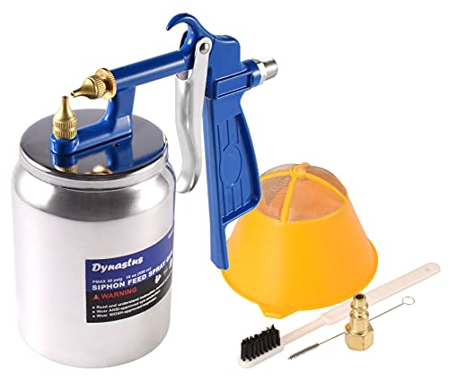 Dynastus K-Style Air Suction Feed Siphon Spray Gun for Spraying Oil-Based or Latex Paints, with Filtering and Cleaning Kits