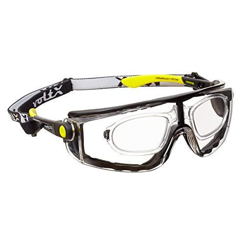 voltX 'Quad' 4 in 1 (Transparente dioptría +2.5) Lectura Segura Gafas de Lectura de Seguridad con Lentes de Aumento Completos - con inserción de Espuma y Diadema - certificación CE EN166f ⭐