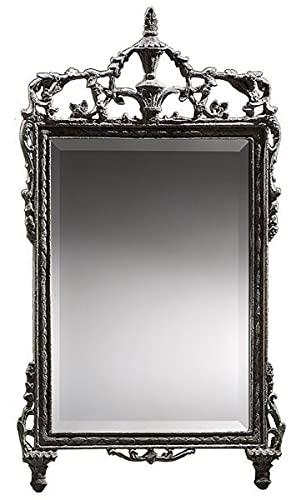 Casa Padrino Espejo Barroco Gris - Magnífico Espejo de Pared Hecho a Mano de Estilo Barroco - Espejo de Armario de Estilo Antiguo - Espejo de salón - Accesorios de decoración Barroco