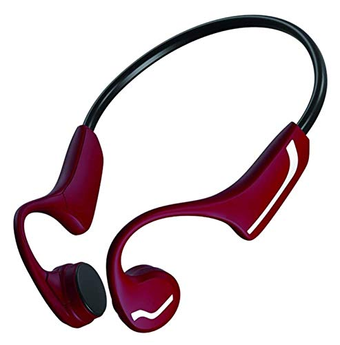 WYYHYPY Auricular inalámbrico Hueso Conducción Bluetooth 5.0 Auriculares Anti-Sweat Light Sports Estéreo Hand-Free Auriculares para Huawei Xiaomi, Rojo Auriculares Bluetooth (Color : Red)