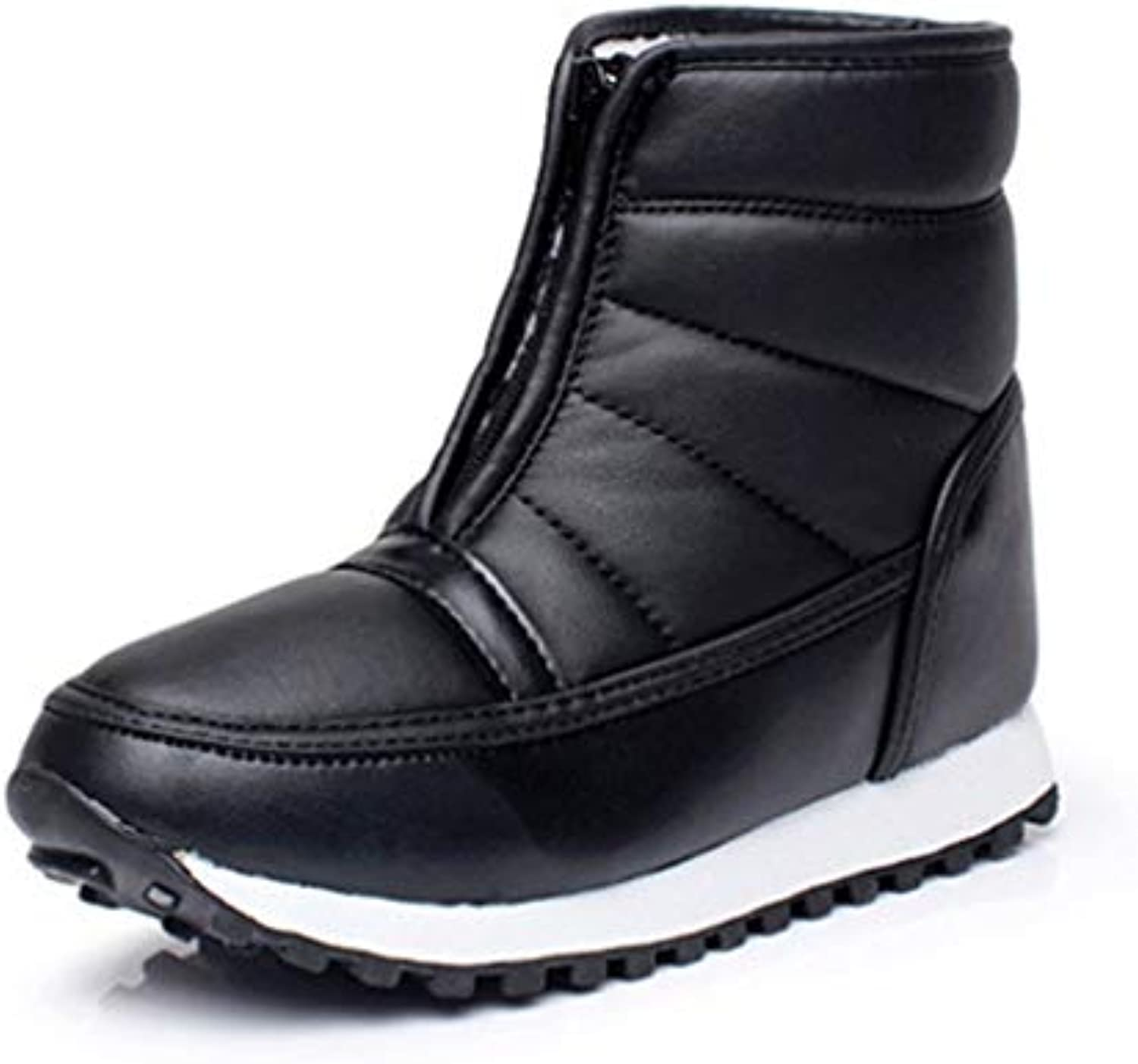 T-JULY Women Winter New Warm Snow Boots Ladies PU Ankle Boots Unisex Warm Fur Insole Boots