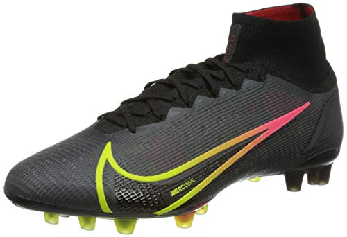 Nike Superfly 8 Elite AG, Scarpe da Calcio Unisex-Adulto, Black/Cyber-off Noir-Rage Green-Siren Red, 41 EU