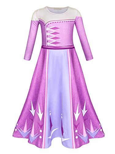 AmzBarley Prinses Aankleden voor Meisjes Fancy Party Kostuum Kinderen Bloemen Argyle Lange Mouw/Mouwloze Outfits Verjaardagavond Halloween Holiday Gowns