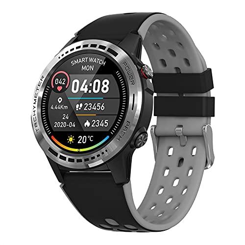 Ownlife M7 Smart Watch 2020 SmartWatch GPS para Hombres Bluetooth Llamada Compass Barómetro Altitud Deportes al Aire Libre Mujeres Smart Relojes (Color : Silver Gray)
