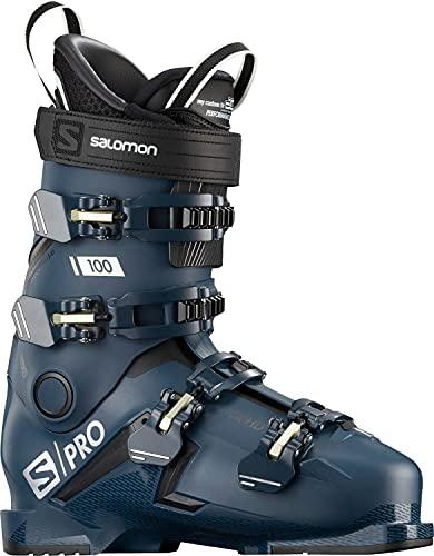 Salomon Piste - Botas de esquí para hombre S/PRO 100 azul petróleo/negro/Palekaki...