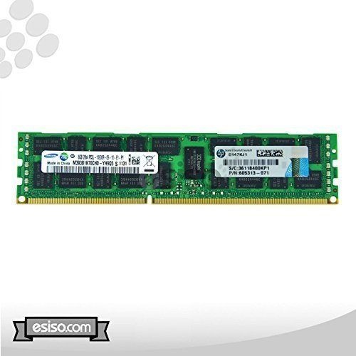 HP 64GB (8x 8GB) Kit 8GB 2Rx4pc3l-10600r DDR3–13331,35V ECC REG Arbeitsspeicher für ProLiant DL320G6DL360G6DL360G7DL370G6DL380G6DL380G7