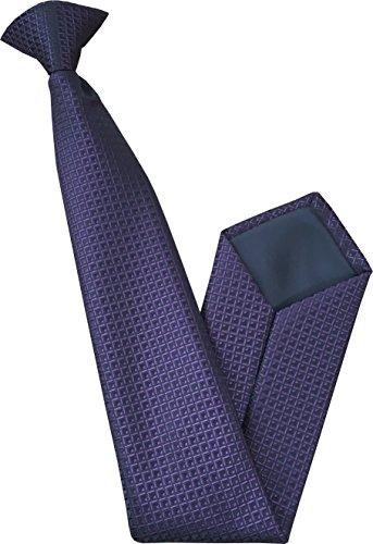 Great British Tie Club Cravate à Clipser - Violet et Noir Motif à Carreaux