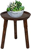Vudy Mid Century Plant Stand, Indoor Tall Plant Stand Wood Planter Holder for Flower Pots, Small Round Side Table, End...
