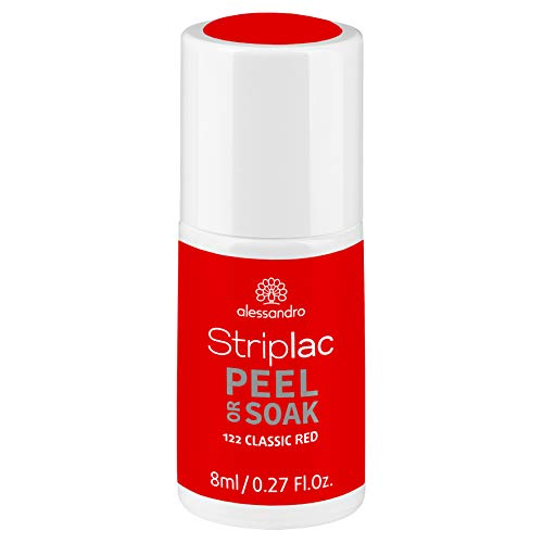 alessandro Striplac Peel or Soak Classic Red – LED-Nagellack in klassischem Rot – Für perfekte Nägel in 15 Minuten – 1 x 8ml