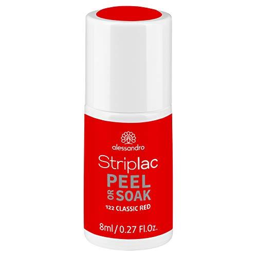 alessandro Striplac Peel or Soak Classic Red – LED-Nagellack in klassischem Rot – Für perfekte Nägel in 15 Minuten – 1 x 8ml