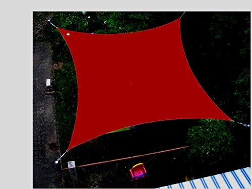 Coolaroo Sonnensegel Viereck Quadrat 3,6m x 3,6m Türkis Sand, Terra, Farbauswahl:Terracotta