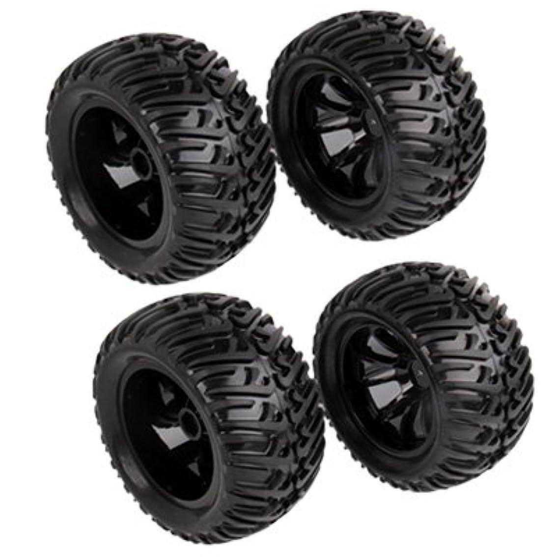 カプラー義務的厚くするDIY accessories 0 R/C電気/石油ハイブリッドロッククローラーカー用ゴムトレッドタイヤ