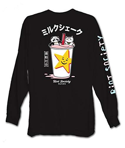 Riot Society Camiseta de manga larga para hombre con estampado y bordado, Carl's...
