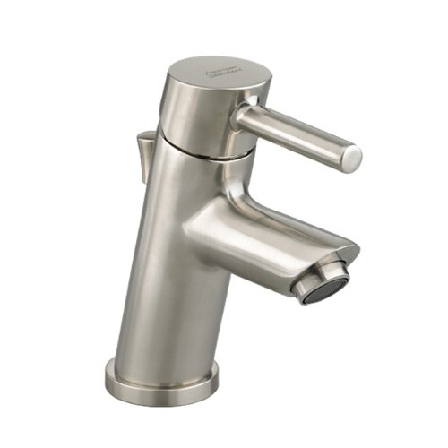American Standard 2064.131.295 Serin Petite Monoblock Bathroom Sink Faucet with Metal Pop-Up Drain, Satin Nickel