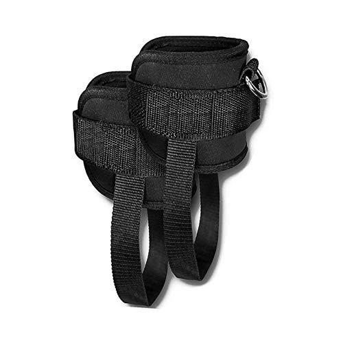 ASD Fitness-Widerstandsbänder, Knöchelmanschette, Bein-Training, 2 Stück Schwarz