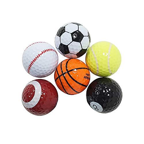 Skystuff Bolas de golf de 6 piezas para golfista de golf para interior y exterior de entrenamiento pelotas de golf regalo