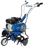 Hyundai 35130 Motobineuse Moteur 4 temps 6,5 HP de puissance pour le soin de votre potager et jardin, bleu