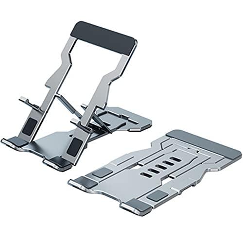 YOURAN Aleación de aluminio plegable del almacenamiento del teléfono del soporte portátil del teléfono de escritorio del metal de la tableta del soporte general de la mano