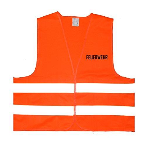 Feuerwehr Warnweste - Einheitsgröße bis XXL, Orange