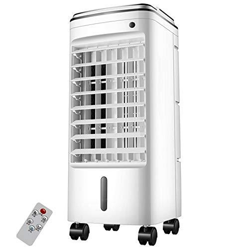 CQILONG-Condizionatore Portatile Basso Consumo Energetico Purificazione E Umidificazione Doppio Serbatoio di Acqua Dormitorio Mobile Cooler, 2 Stili (Color : White A, Size : 25x26x60cm)